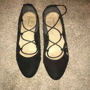 Black Ballet Flats with straps